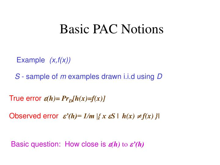 Basic PAC Notions