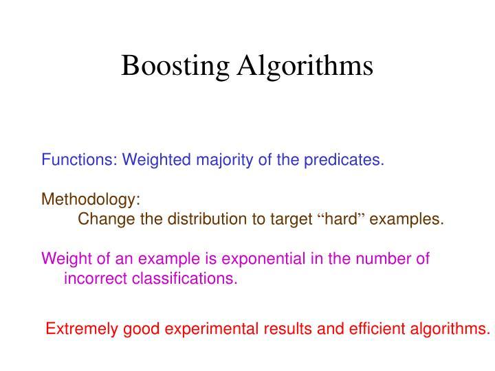 Boosting Algorithms