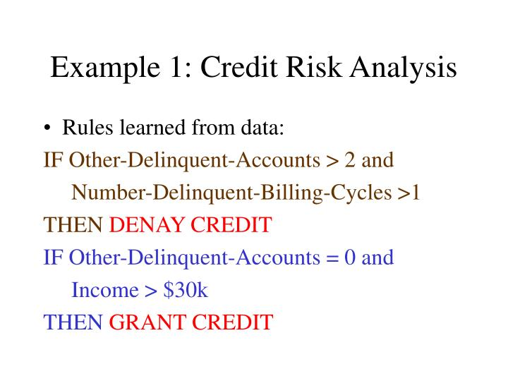 Example 1: Credit Risk Analysis