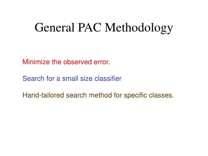 General PAC Methodology