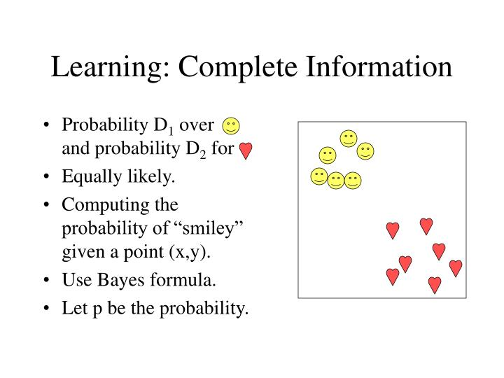 Learning: Complete Information