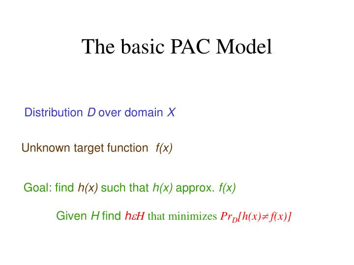 The basic PAC Model