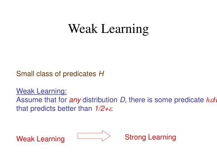 Weak Learning