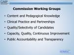 commission working groups