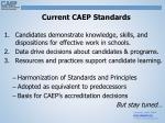current caep standards