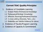 current teac quality principles