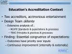 education s accreditation context