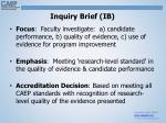 inquiry brief ib