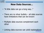 new data sources