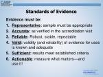 standards of evidence