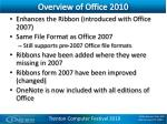 overview of office 2010