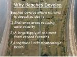 why beaches develop