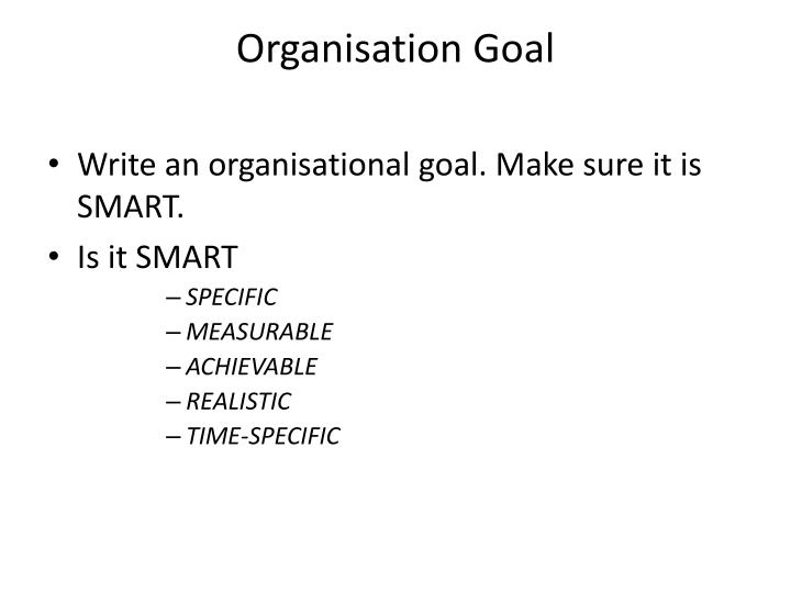 Organisation Goal