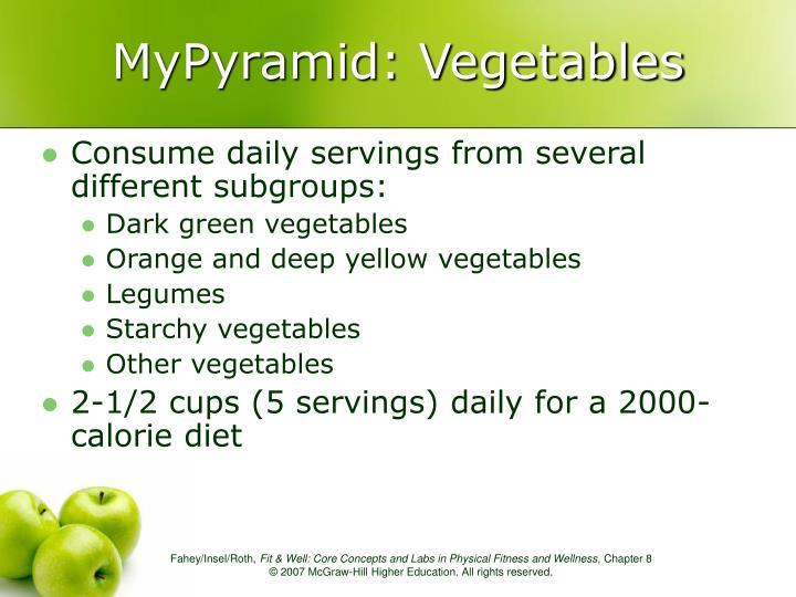 MyPyramid: Vegetables