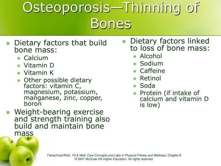 Dietary factors that build bone mass: