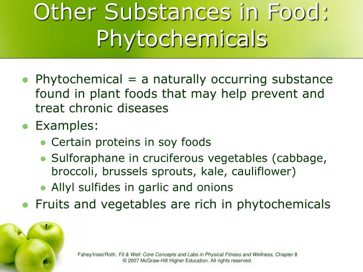 Other Substances in Food: Phytochemicals