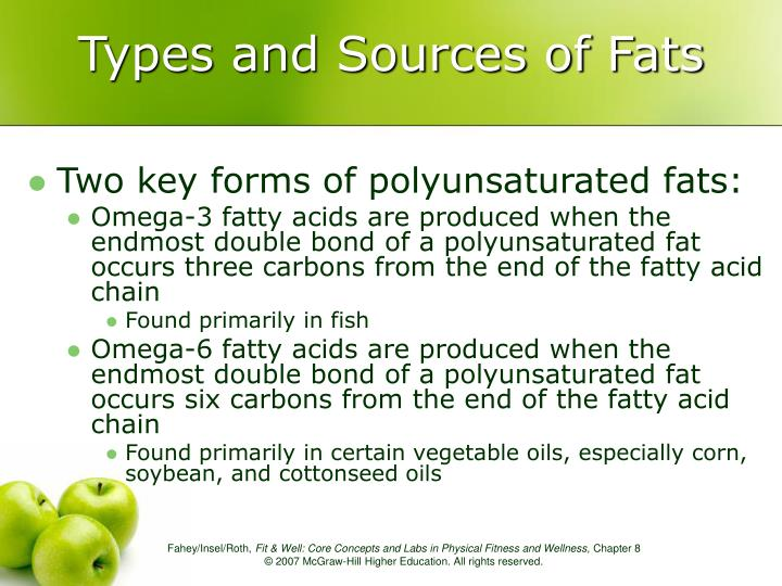 Types and Sources of Fats