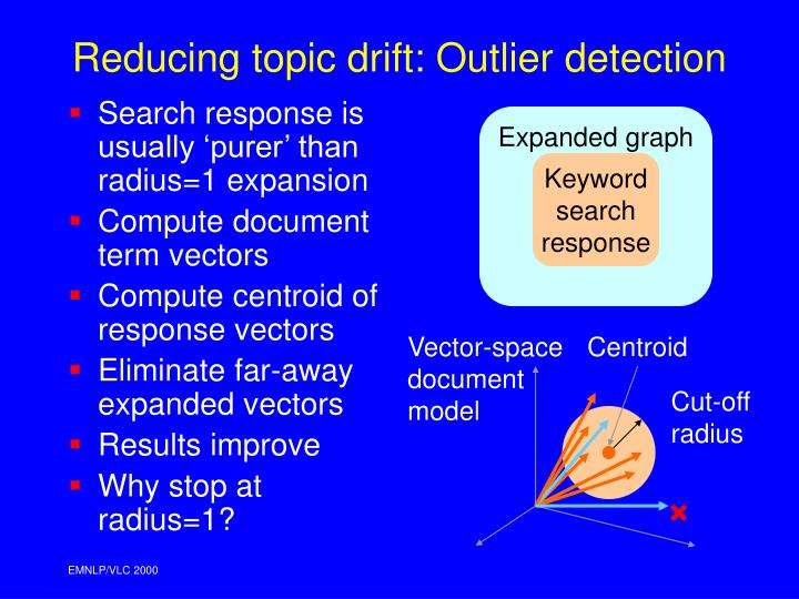 Search response is usually 'purer' than radius=1 expansion