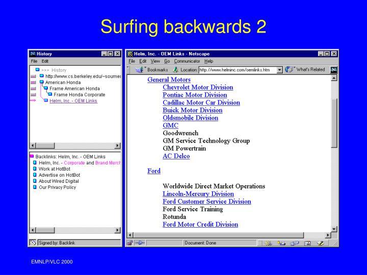 Surfing backwards 2