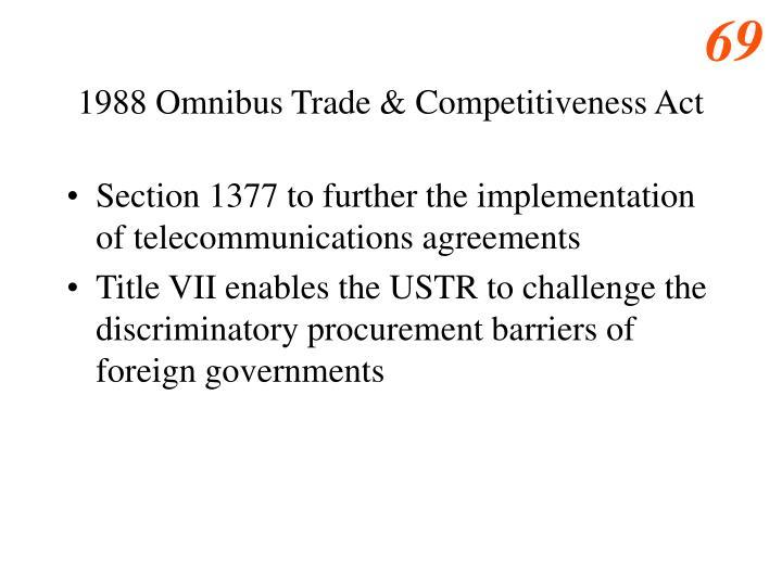 1988 Omnibus Trade & Competitiveness Act