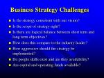 business strategy challenges