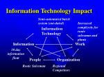 information technology impact1