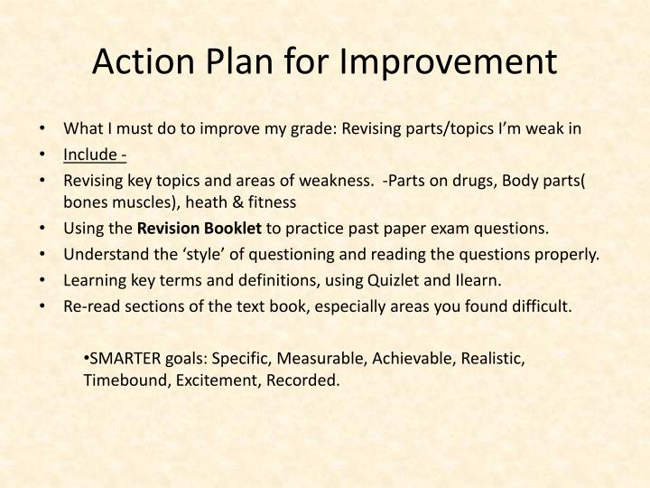 Action Plan for Improvement