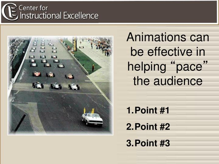 Animations can be effective in helping