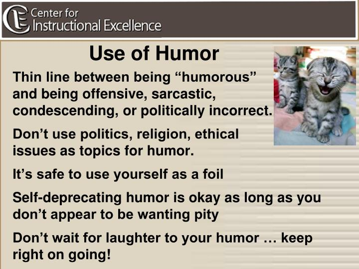 Use of Humor