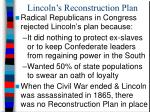 lincoln s reconstruction plan1