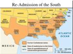 re admission of the south