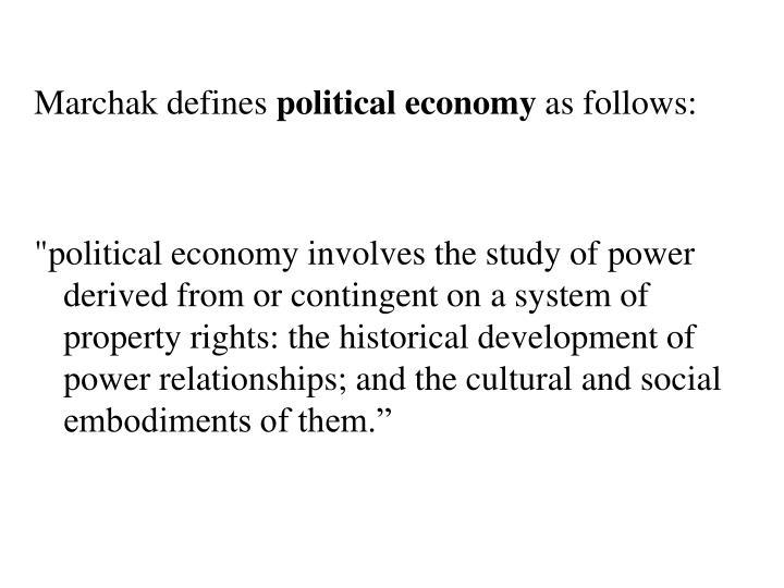 Marchak defines