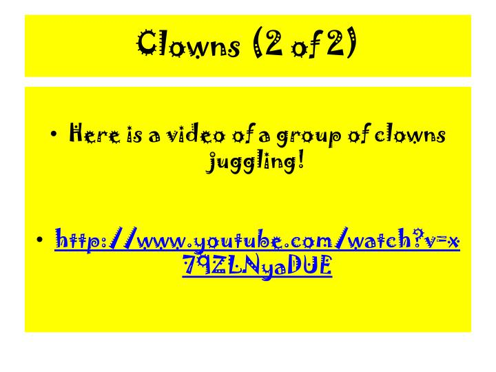 Clowns (2 of 2)