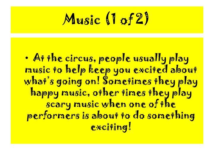 Music (1 of 2)