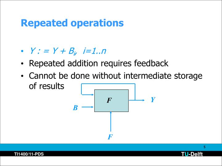 Repeated operations