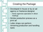 creating the package