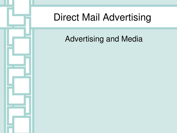 direct mail advertising n.