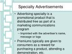 specialty advertisements