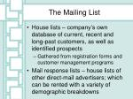 the mailing list