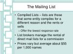 the mailing list1