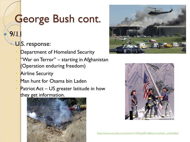 George Bush cont.