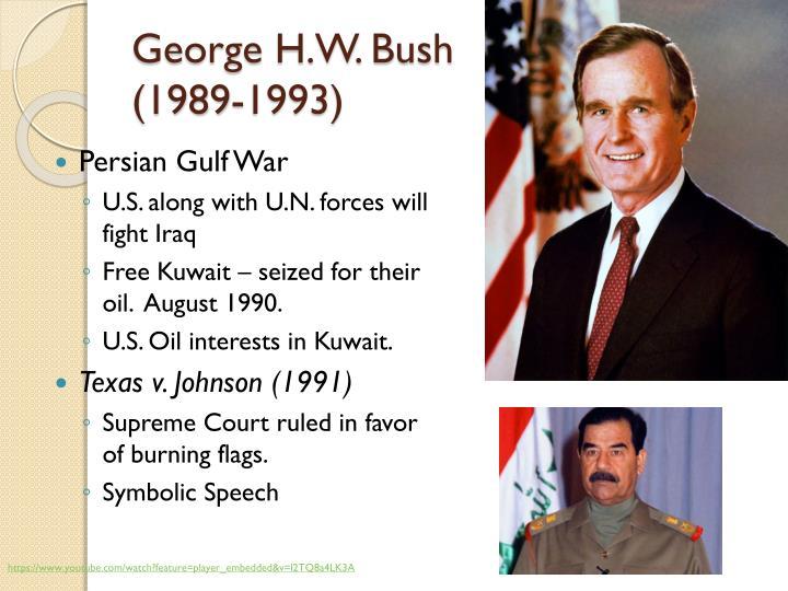 George h w bush 1989 1993