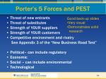 porter s 5 forces and pest