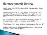macroeconomic review