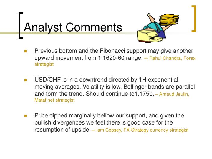 Analyst Comments