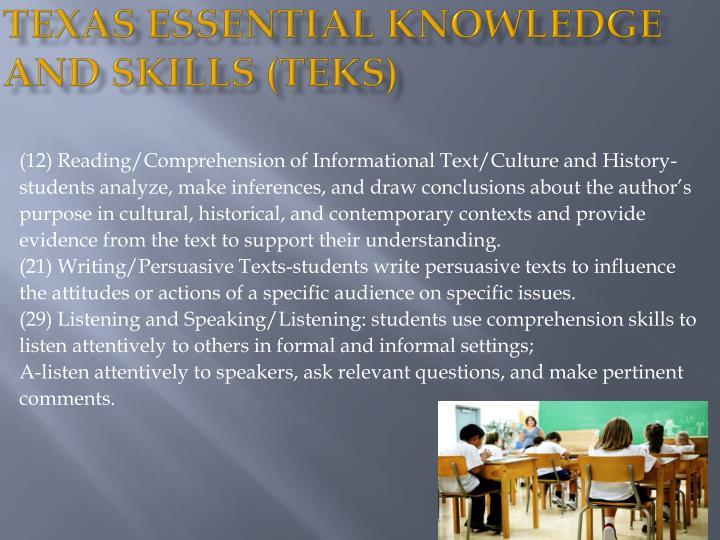 Texas Essential Knowledge and Skills (TEKS)