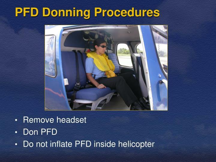 Pfd donning procedures