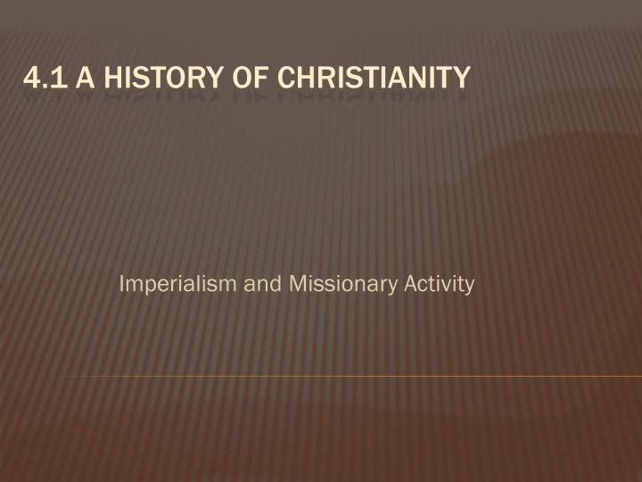 imperialism and missionary activity