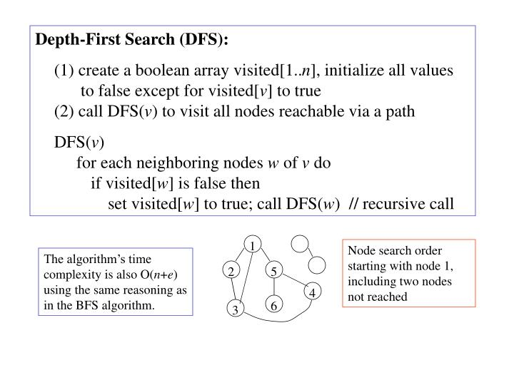 Depth-First Search (DFS):