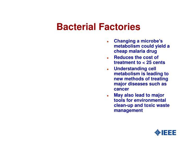 Bacterial Factories